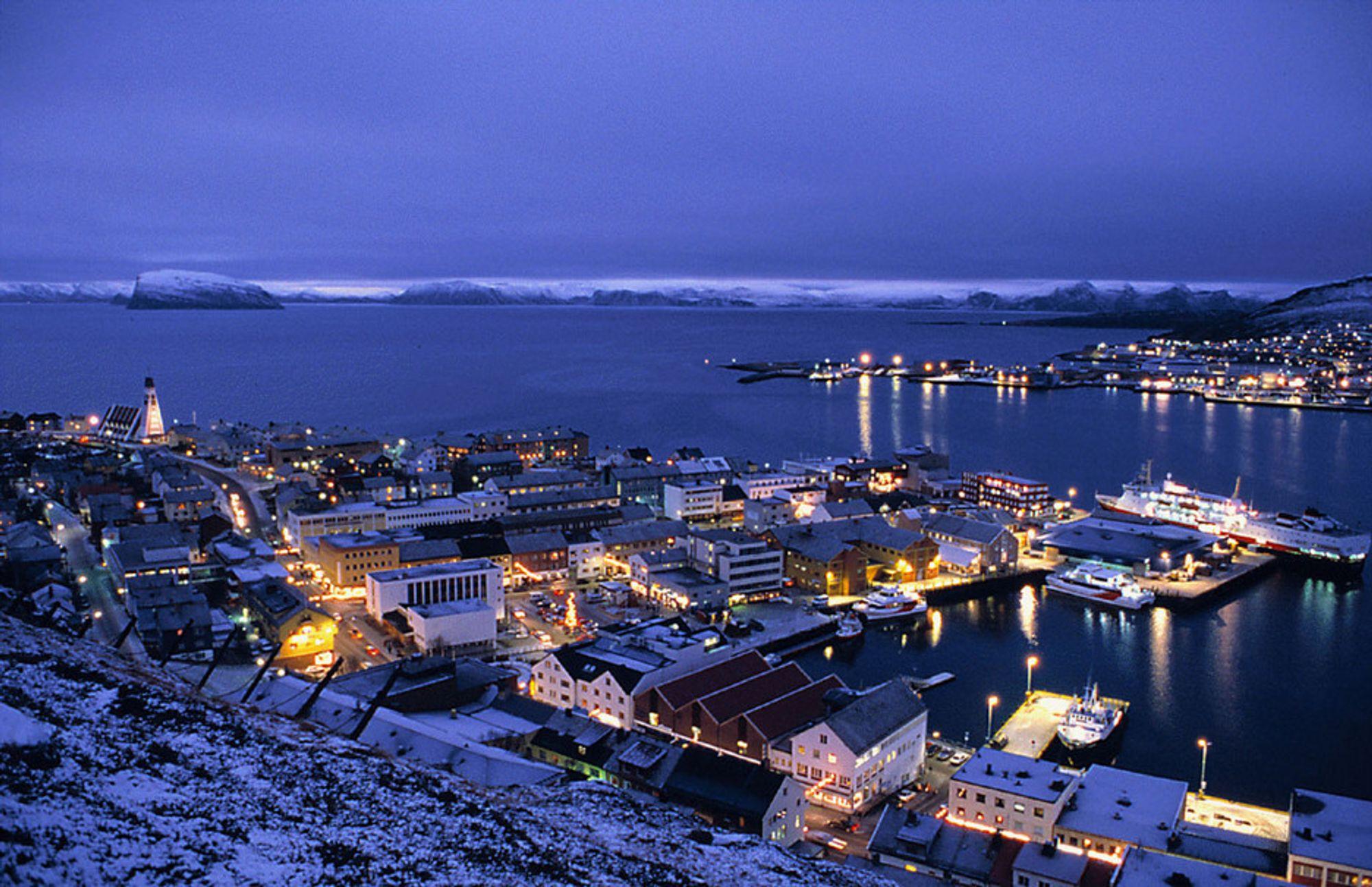 RAPPORT: Er det ikke mer å hente i Hammerfest? Melkøya i bakgrunnen.