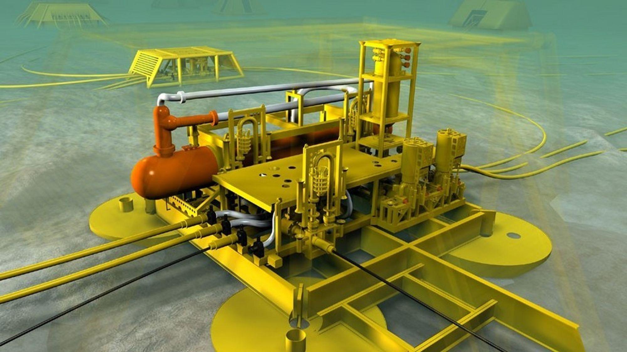 UNDERVANNSEPARASJON: Et av alternativene som vurderes er undervannsseparasjon og rørledninger til land.