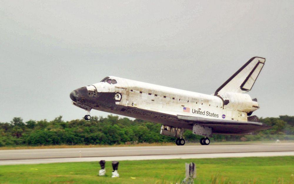 Romferga Discovery landet mandag 17. juli etter en vellykket ferd til romstasjonen ISS.