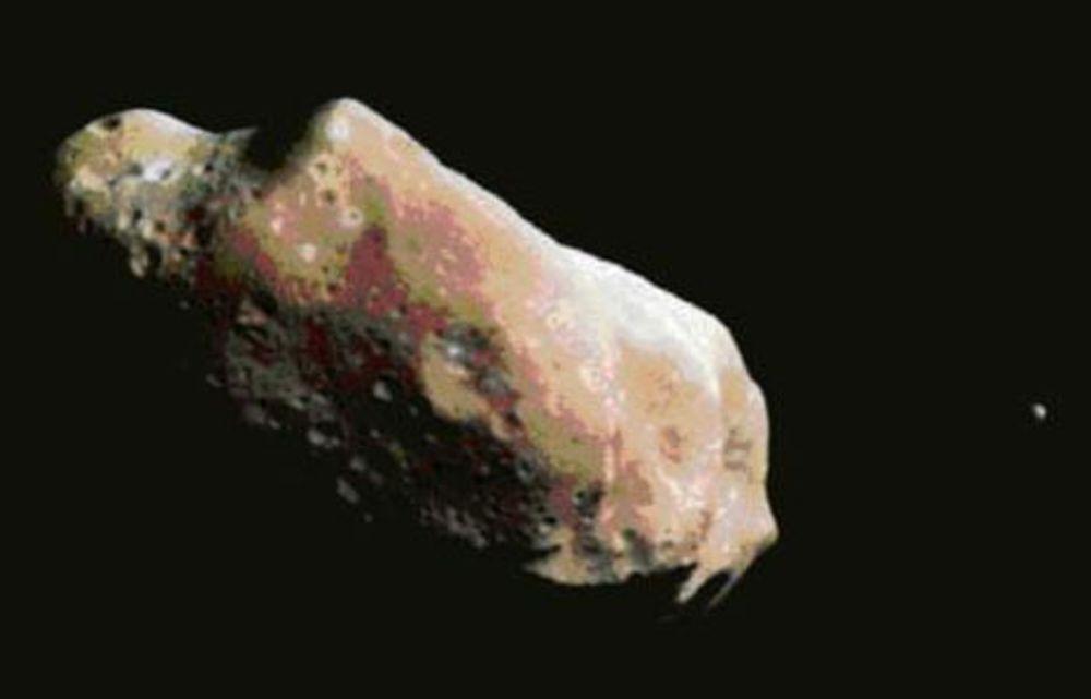 En slik steinblokk vil sneie Jorda mandag førstkommende.