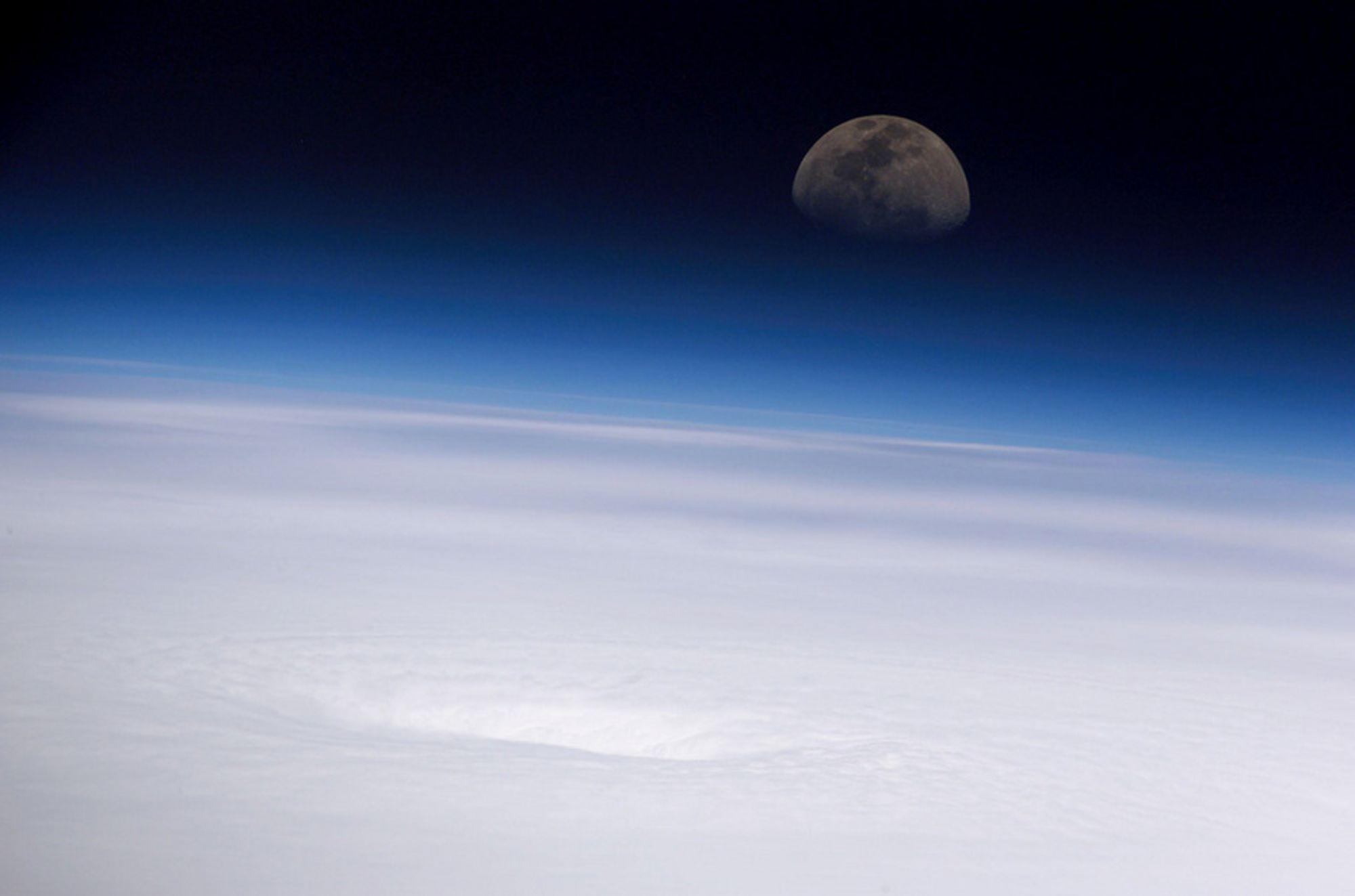 Orkanen Emily som herjet Karibia og Mexico i 2005, sett fra den internasjonale romstasjonen ISS.