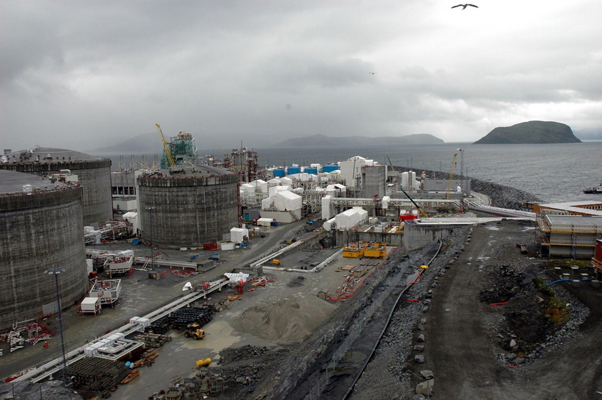 POSITIV TEST: Snart skal gass strømme til Melkøya for prosessering og utskiping. Første produksjonsbrønn ute i havet er nå testet og klargjort.