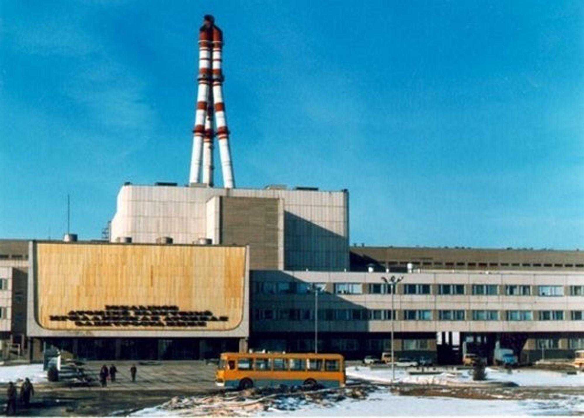 SIKRERE: Kjernekraftverket ved Ignalina helt øst i Litauen har to 500 MW reaktorer av type RBMK, samme som i Tsjernobyl. Dette verket har modernisert styring. Nå får også de russiske verkene sikrere styring. FOTO: STEIN BEKKEVOLD