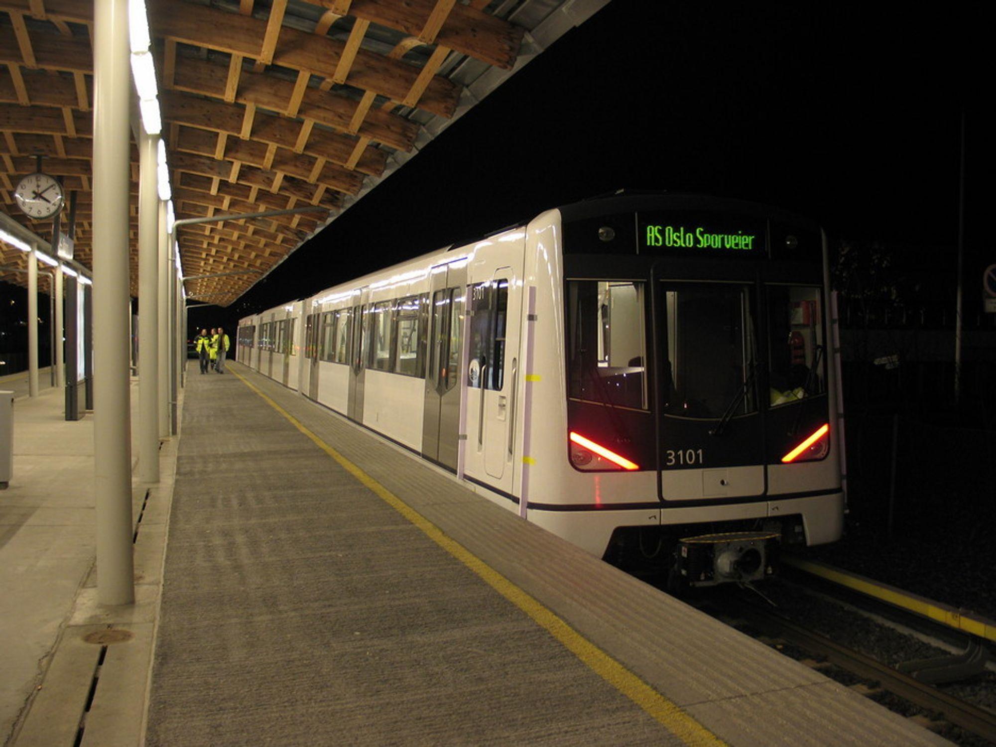 TIDSRIKTIG: De nye T-banetogene blir en stor forbedring sammenlignet med de gamle. Oslo Sporveier tror de vil hjelpe på avgangenes punktlighet.