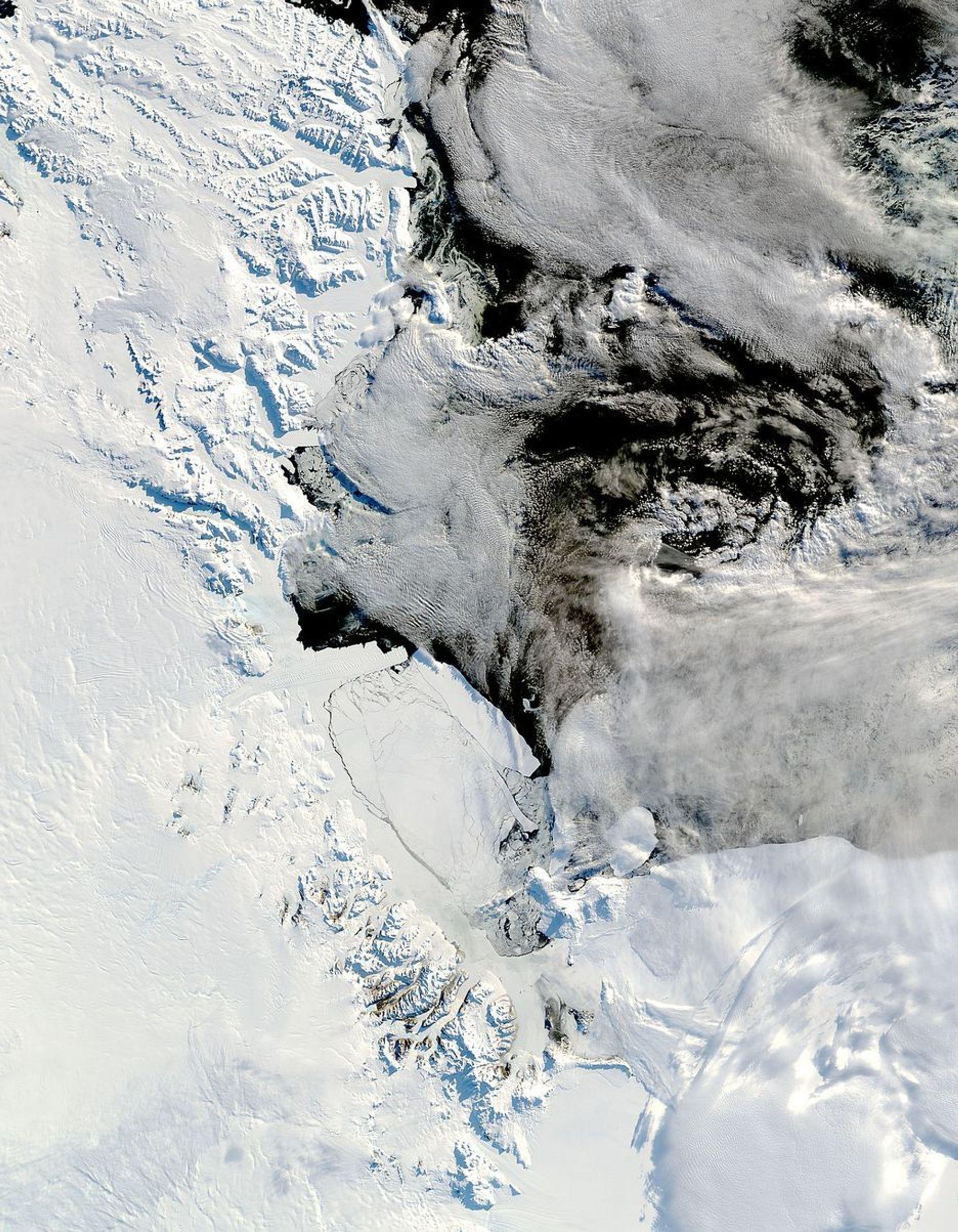 antarktis, arktisk is, arktis, issmelting Bilde fra satelitten Terra.