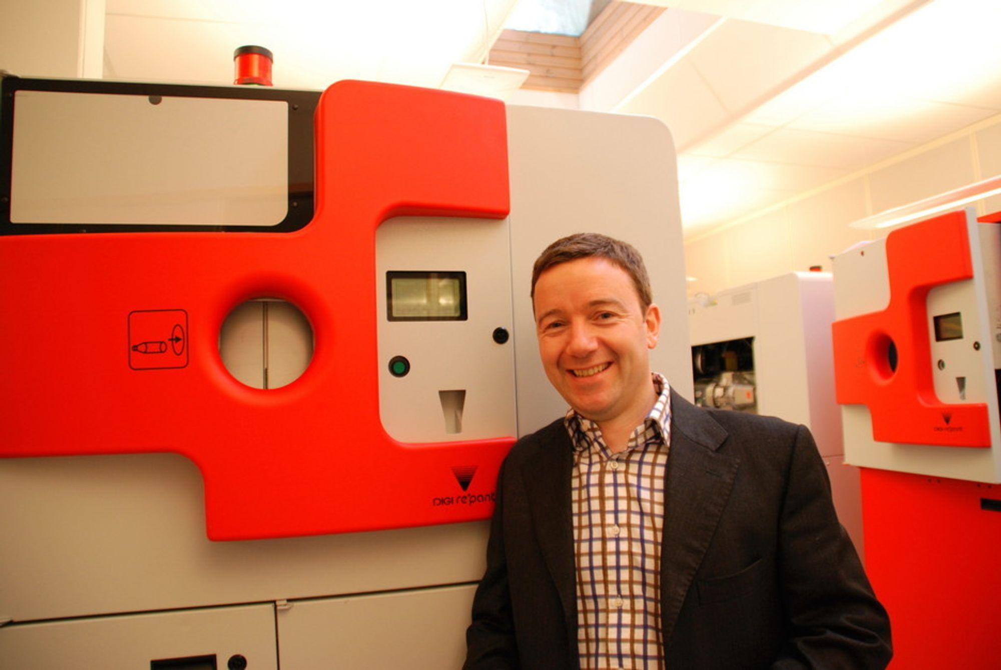 TYSK SUKSESS: Administrerende direktør Christian Andersen i Repant er fornøyd med suksessen i Tyskland.