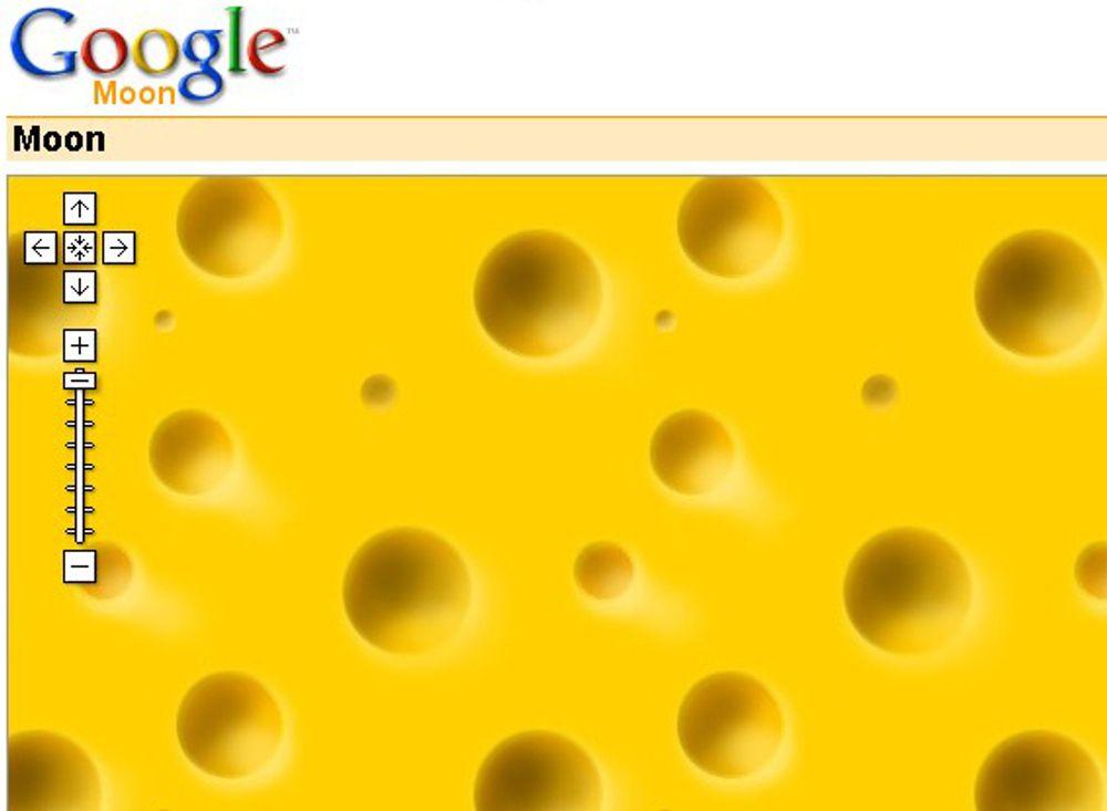 JARLSBERG: Slik presenterer Google månen på moon.google.com.
