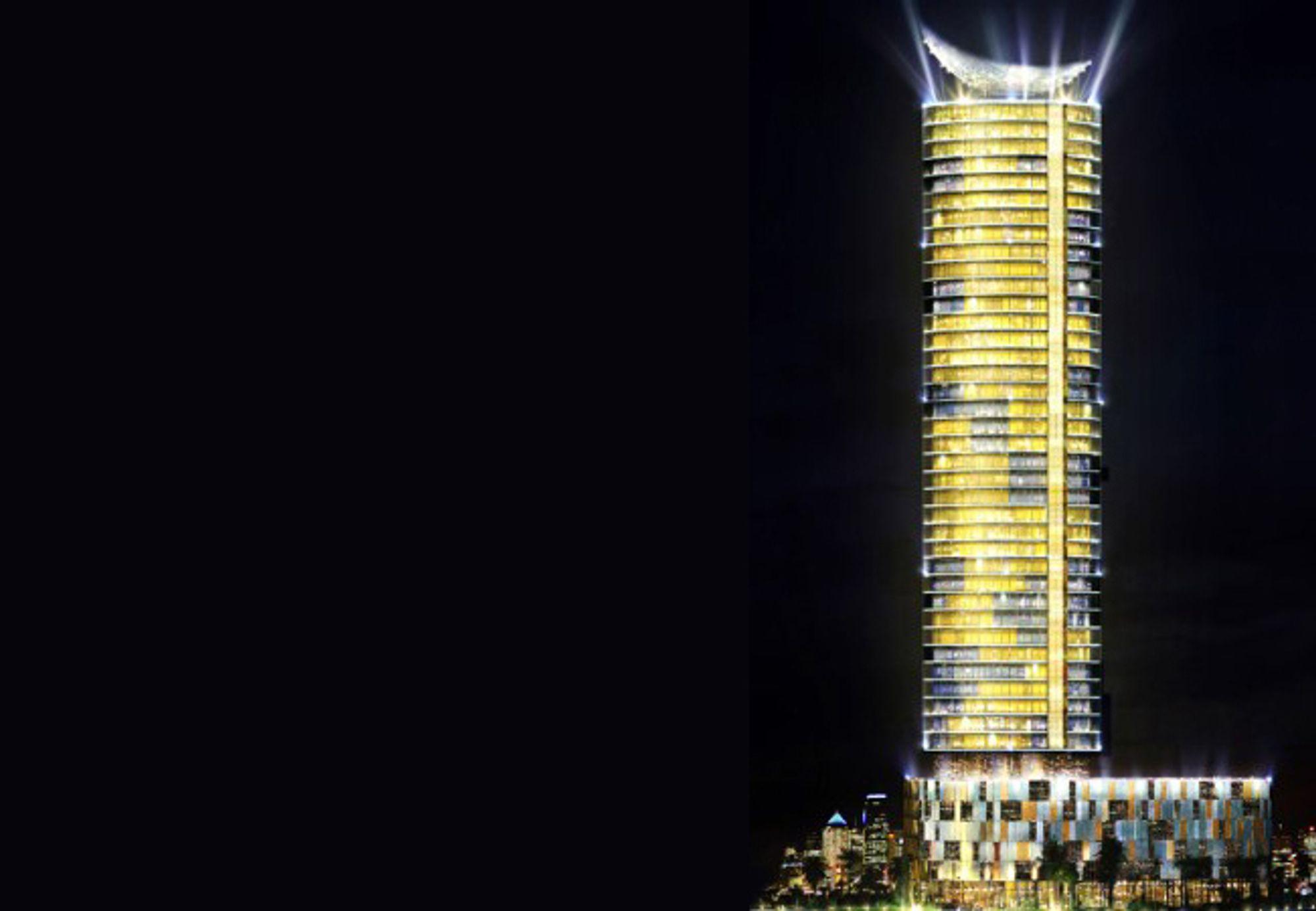 GIGANT: Slik skal tårnet se ut når det står ferdig i 2009.