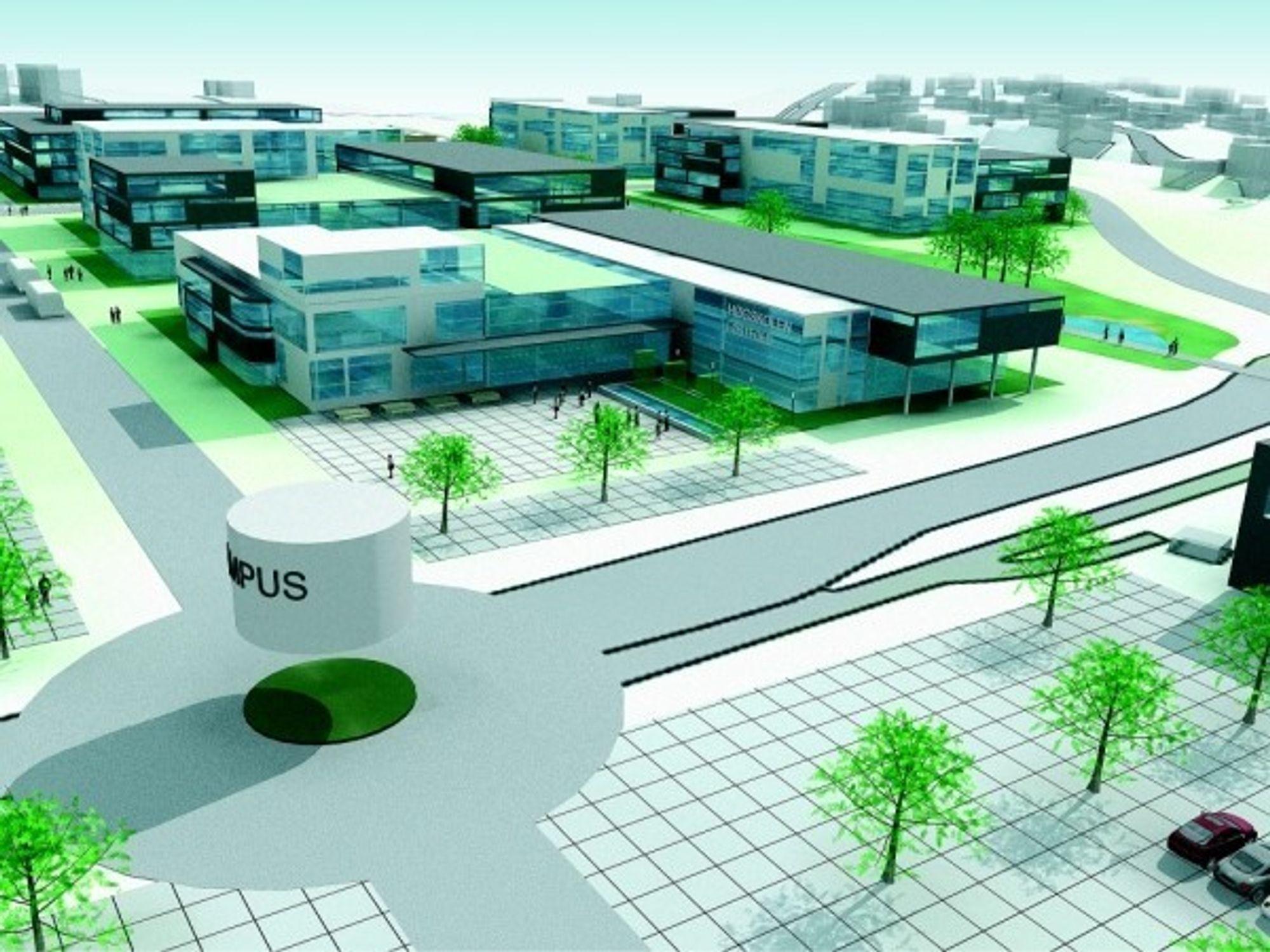 CAMPUS BORG: Slik ser Sarpsborg kommune for seg at den nye Campus Borg blir.