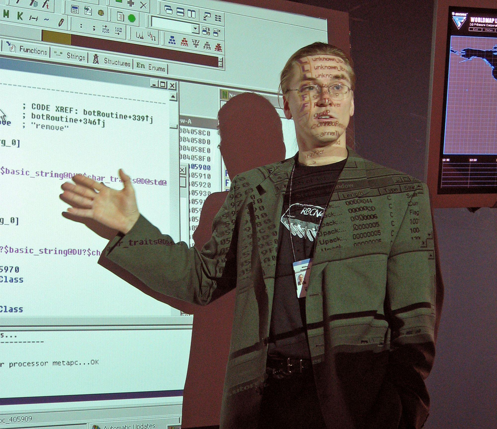 VIRUSGURU: F-Scures forskningssjef Mikko Hyppönen i aksjon.