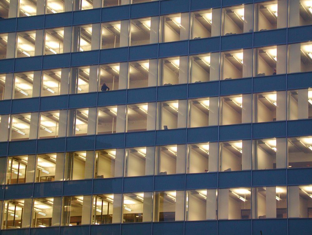 Glassfasade, vinduer, Oslo bygning