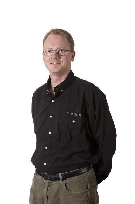 EIRIK CHAMBE-ENG- Startet Trolltech sammen med Haavard Nord i 1994.- Trolltech er nettopp børsnotert.- Stor suksess med kryssplattform utviklingsverktøy.