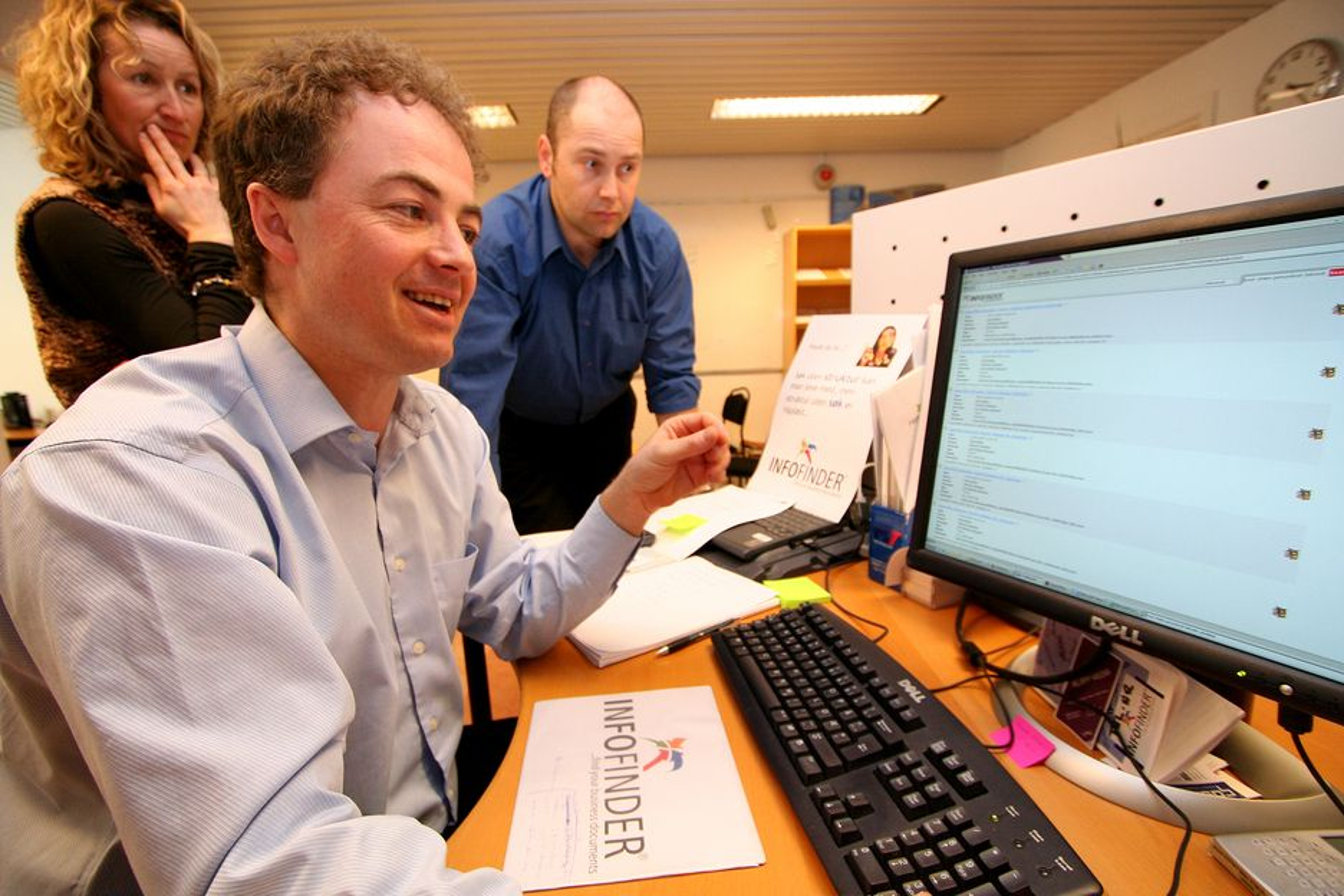 PÅ MOBILEN: Nå vil Infofinder tilby søkemotor direkte på mobilen. Administrerende direktør Lars Morten Nygaard forteller om stor respons så langt.