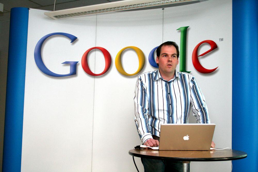 BOIKOTTES: Svenske annonsører boikotter Google, her representert ved Google-sjef i Norge Knut Magne Risvik.