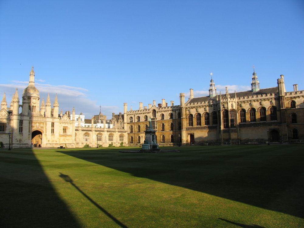 Nedgangen er størst i Storbritannia. Her Cambridge University.