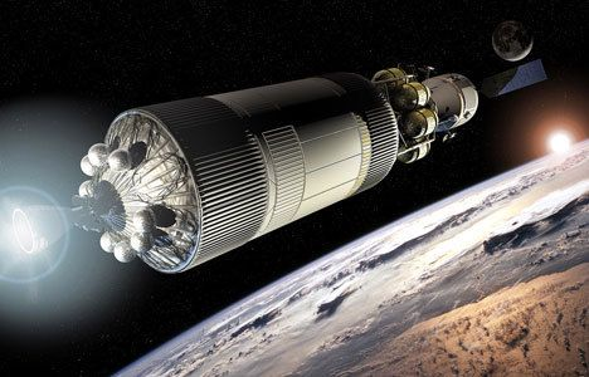 HELT NYTT: Det er et helt nytt romferdssystem Nasa nå utvikler, for ferder til Månen (og videre). Problemstillingene er mange, en av de viktigere er ifølge NASA hvordan de skal få de månereisende helskinnede tilbake til jorden etter ferden.