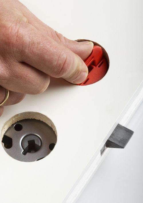 SMART: Midlertidig dørvrider for byggeplasser er en av Labyrints smarte oppfinnelser.