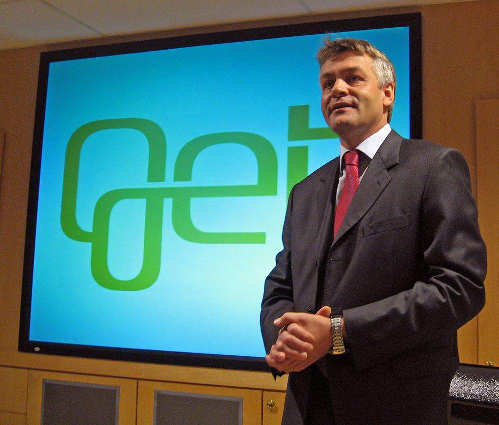 INTRODUSERER GET:Adm. direktør i Get Gunnar Evensen vil gi folk et mye bedre tilbud på digital TV og raskere internett.