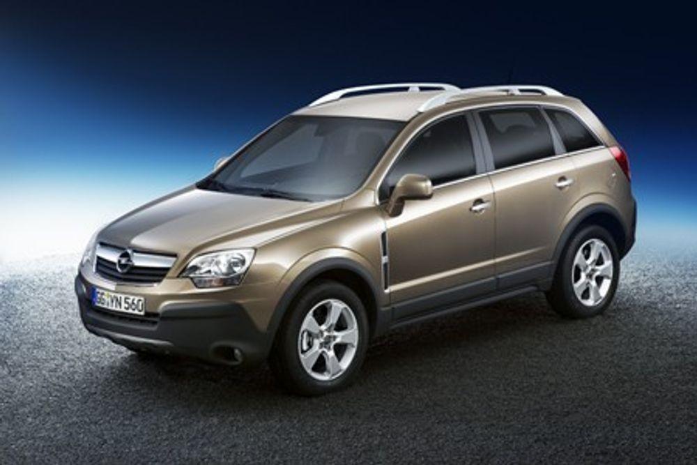 SUV: Opel Antara GTC blir nopk mest solgt som dieselbil i Norge. Da leveres den med en 2-liters diesel på 110 kW/150 hk.