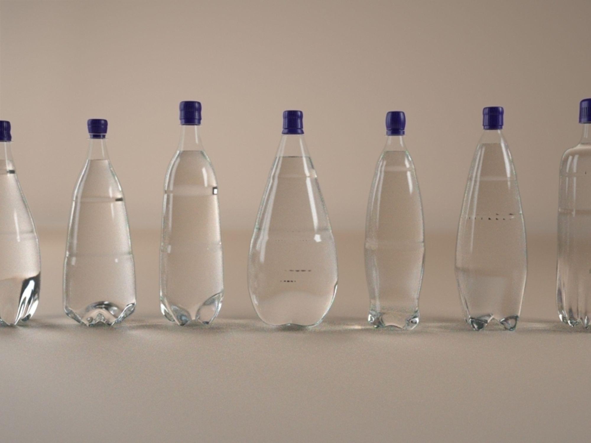 HURTIG: En flaskemodell genereres på ti sekunder med Genometris programvare for produktdesign.