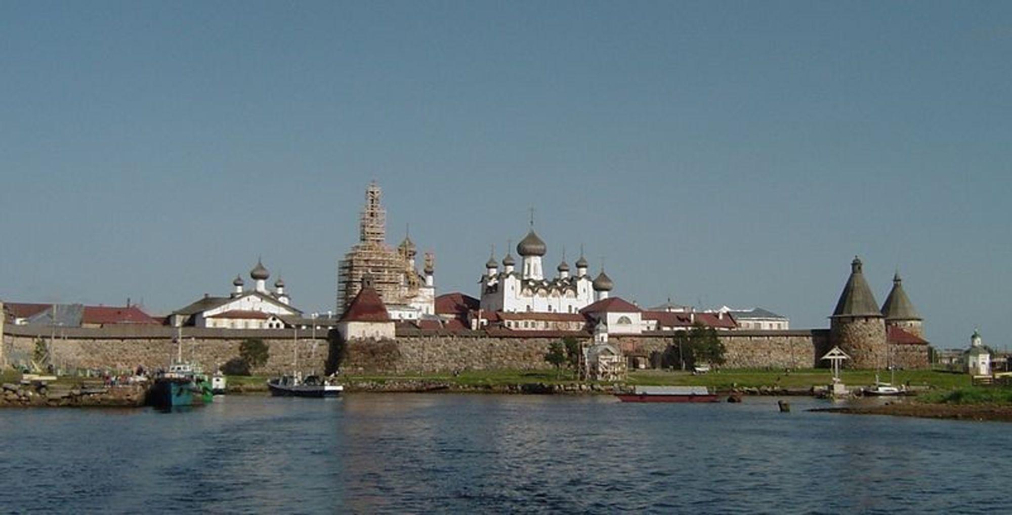 Byen Solovki ved Kvitsjøen, Nordvestrussland.