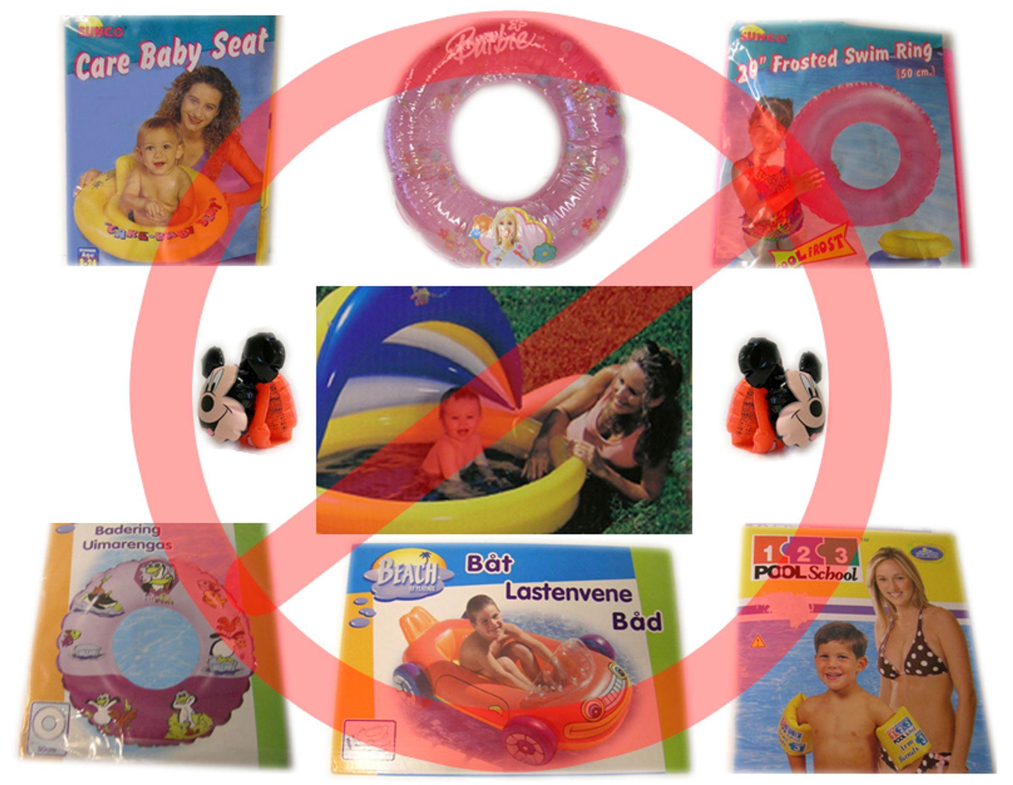 Disse produktene må du ikke kjøpe til barna dine. I alle fall ikke så lenge de er så små at de vil suge og tygge på dem.