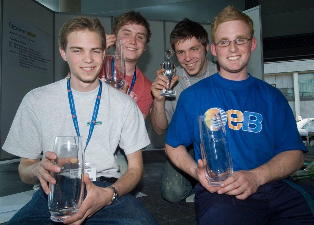 NORGESMESTRE: Disse fire gikk til topps under NM på Eliaden. Fra venstre Lars Erik Moen, Pål Nergaard, Marius Zwicky Eide og Kenneth Friberg.FOTO: KNUT STRØM