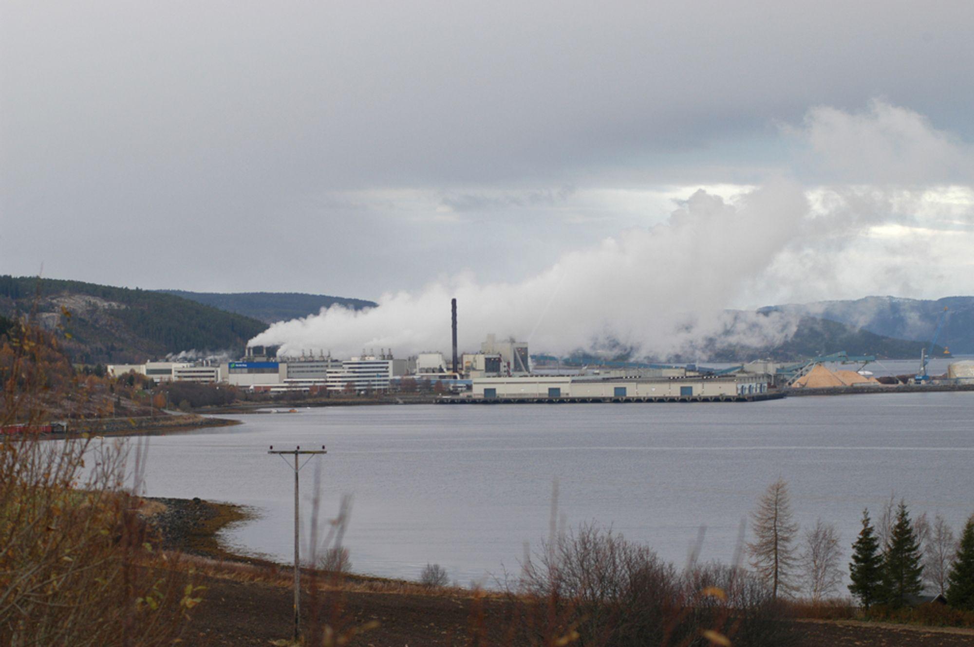VARME: Kraftvarmeverket skal bygges ved Norske Skogs papirfabrikk på Skogn og levere varme til fabrikken.