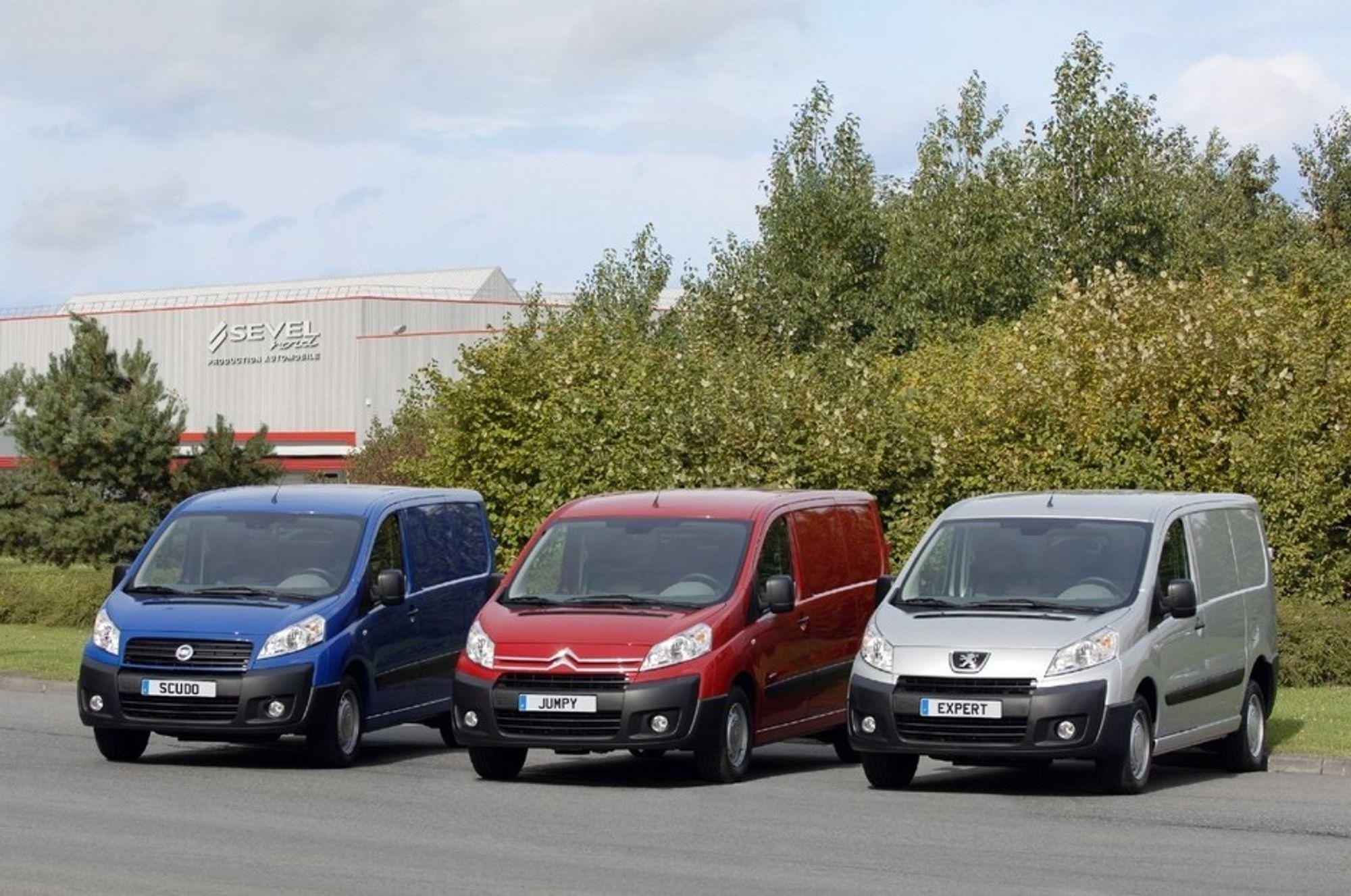 Snekkere, rørleggere og maleres drømmebil? Fiat, Citroen og  Peugeot med fristende modeller.