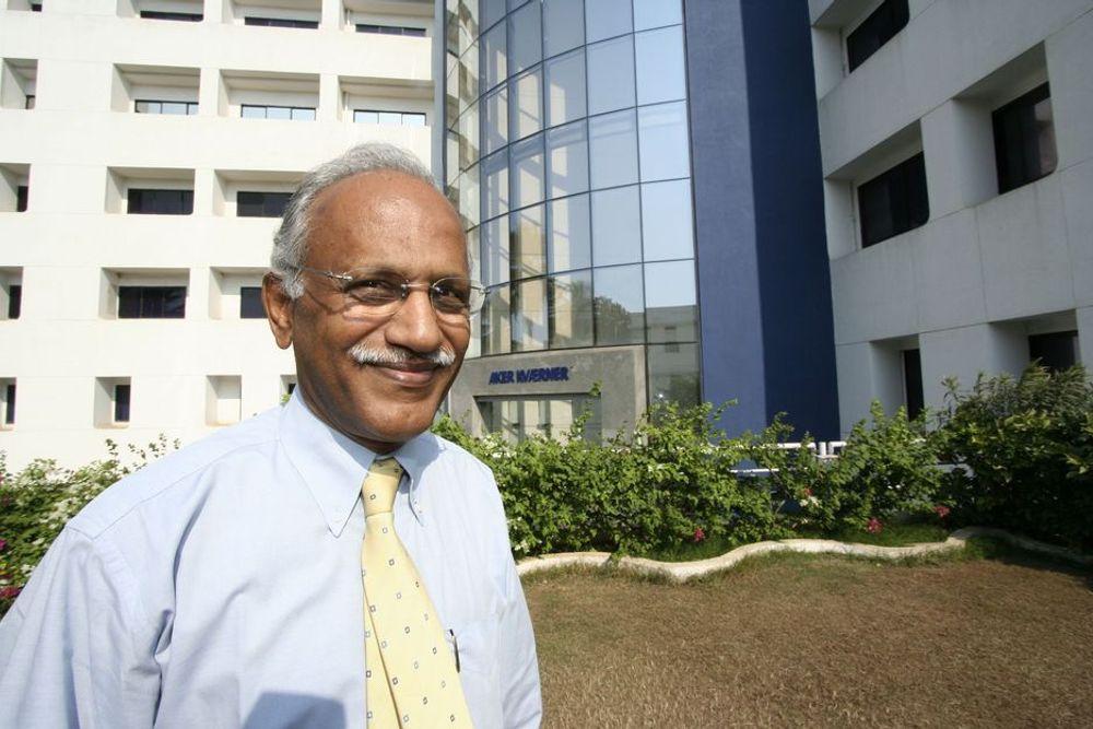 Opptur: Dr. S. Rama Iyer i Aker Kværner Powergas opplever stor suksess med sine indiske ingeniører.