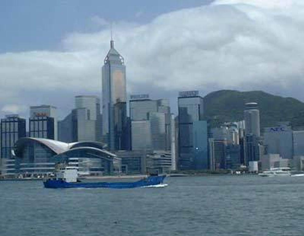 Fem kilometer av kloakktunnelen går under vann i Hong Kong-bukta.