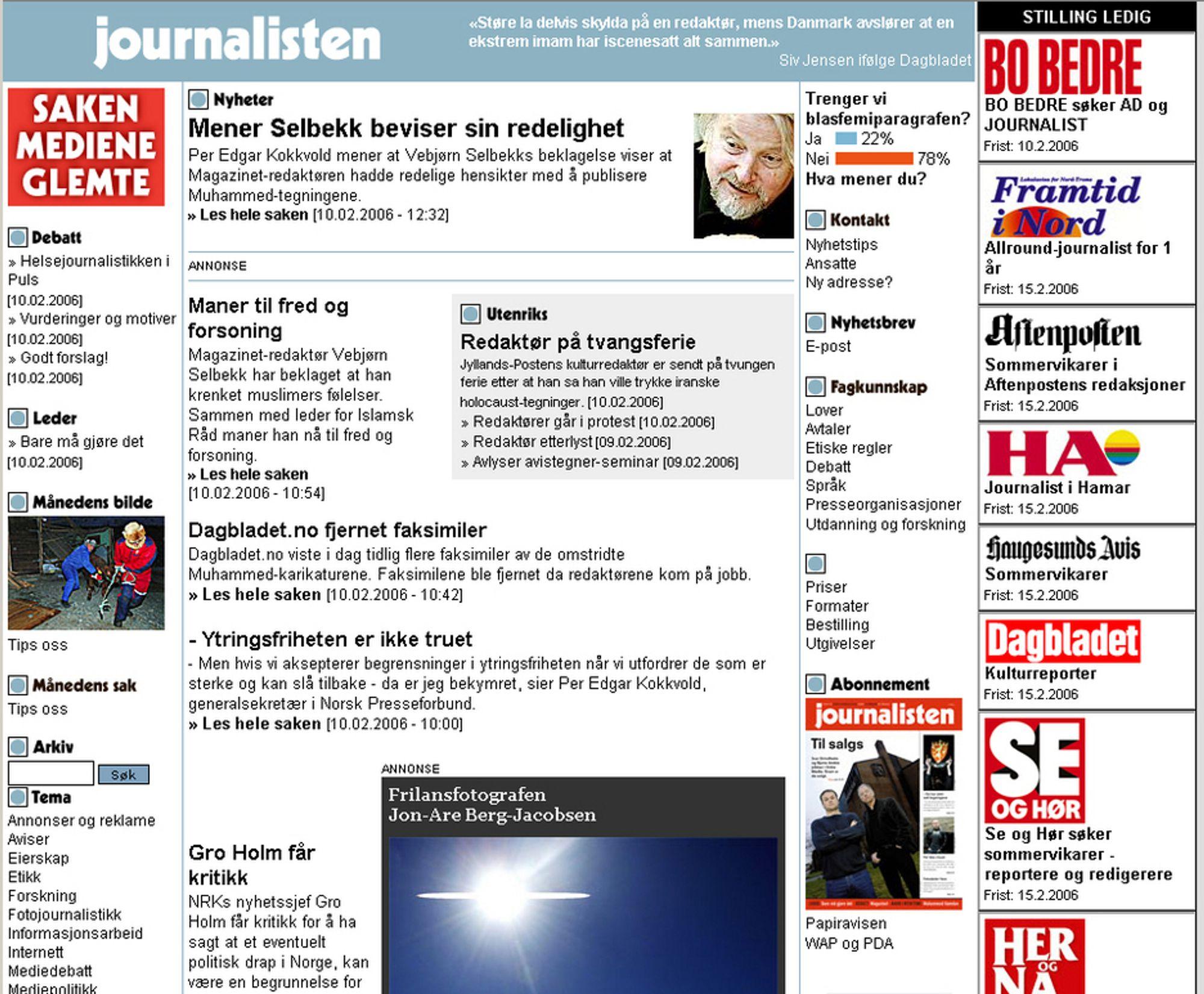 ANGREPET: Journalisten.no har blitt angrepet av hackere som har sendt datavirus og endret utseendet på en underside.