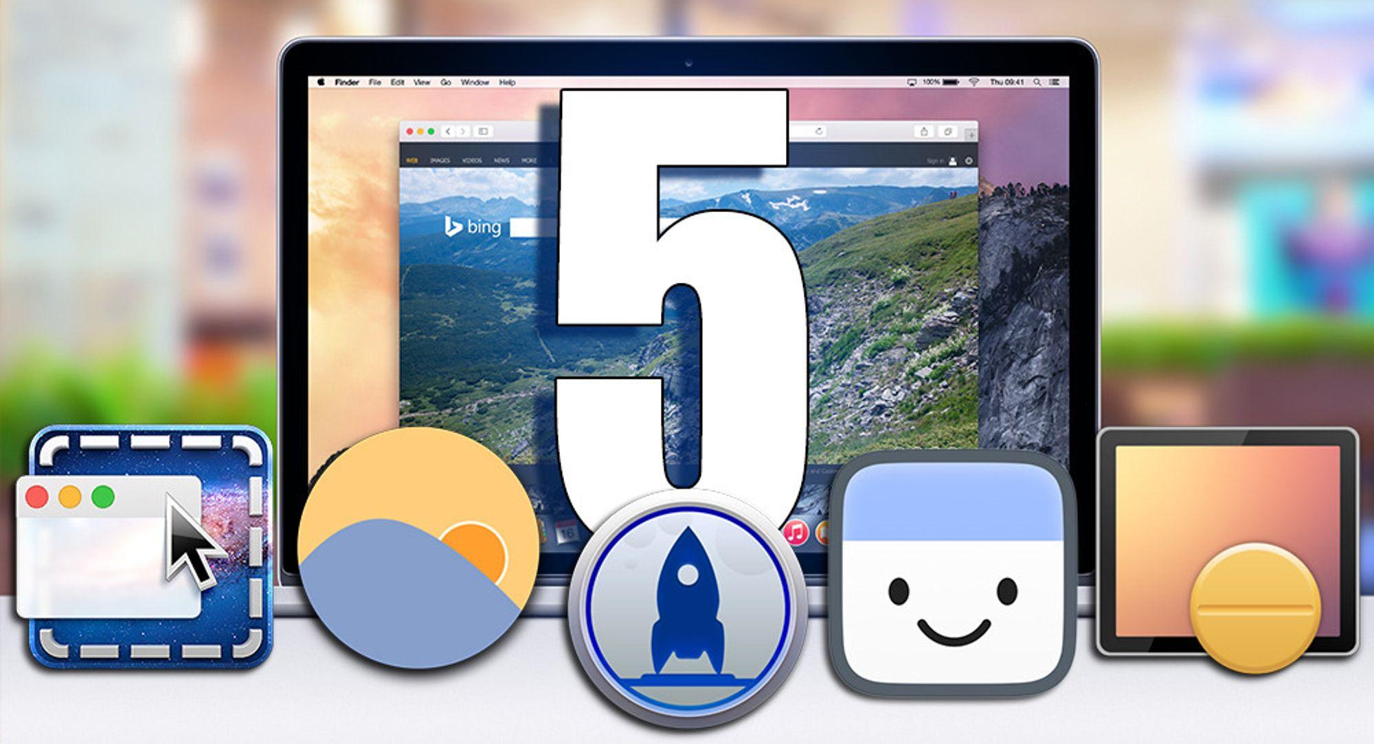 Vi har hentet frem fem nyttige Mac-programmer vi ikke klarer oss uten.
