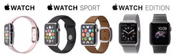 Dette er dagens utgaver av Apple Watch.