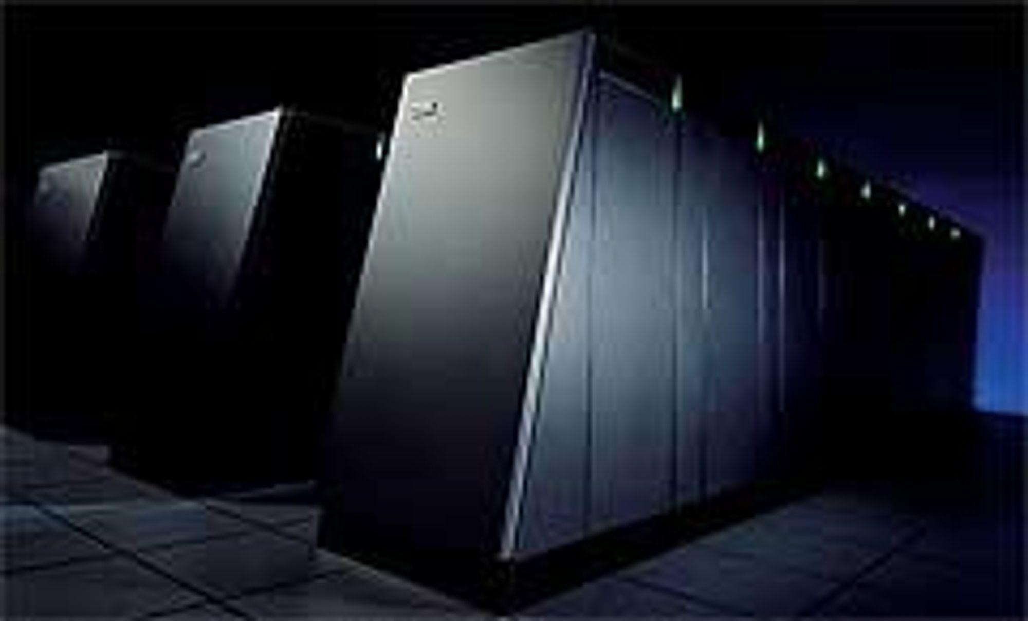 Blue Gene ved LLNL i California får ikke beholde tronen som verdens raskeste datamaskin lenger enn til 2011. Foto: IBM