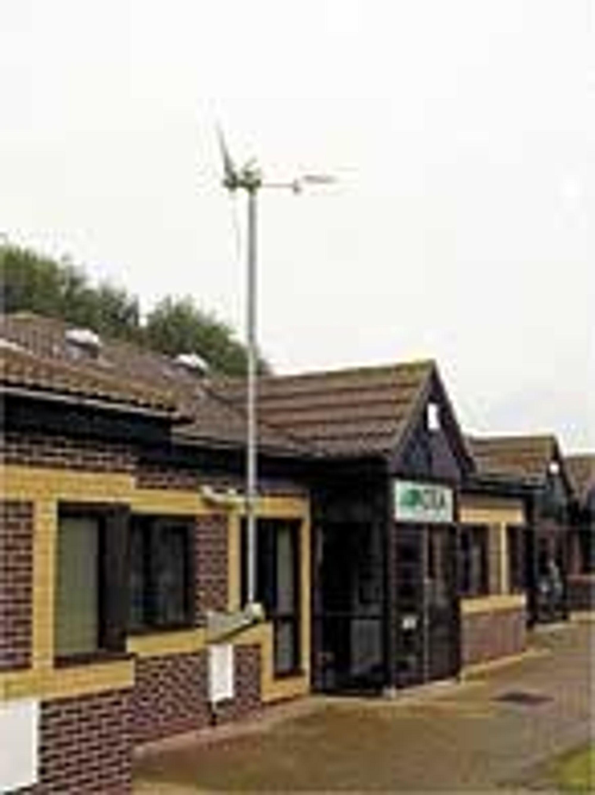 Vindturbin på taket