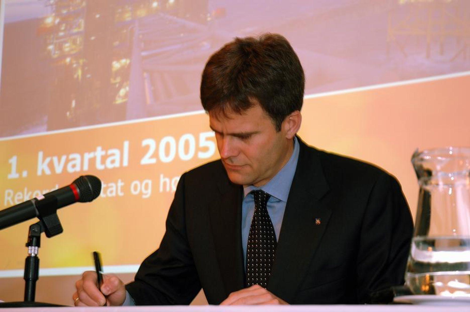 SISTE INNSPURT: Konsernsjef Helge Lund er godt fornøyd med kvartalsresultatene i Statoil.