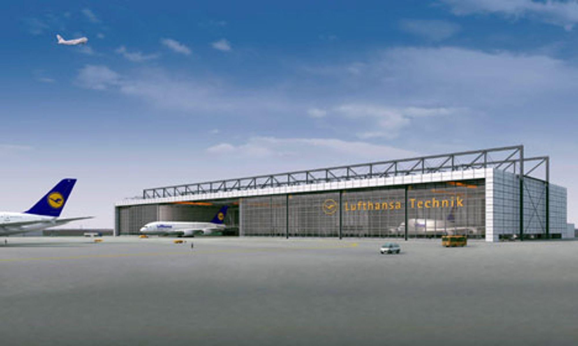 JOBBER: Den tyske regionen Rhein-Mainz antas å få minst 6 000 nye arneidsplasser når Lufthansa setter gigantflyet AS380 i full drift høsten 2007. Fordi flyet kommer i tillegg til den vanlige flyflåten i selskapet vil en rekke nyansettelser blir nødvendige.