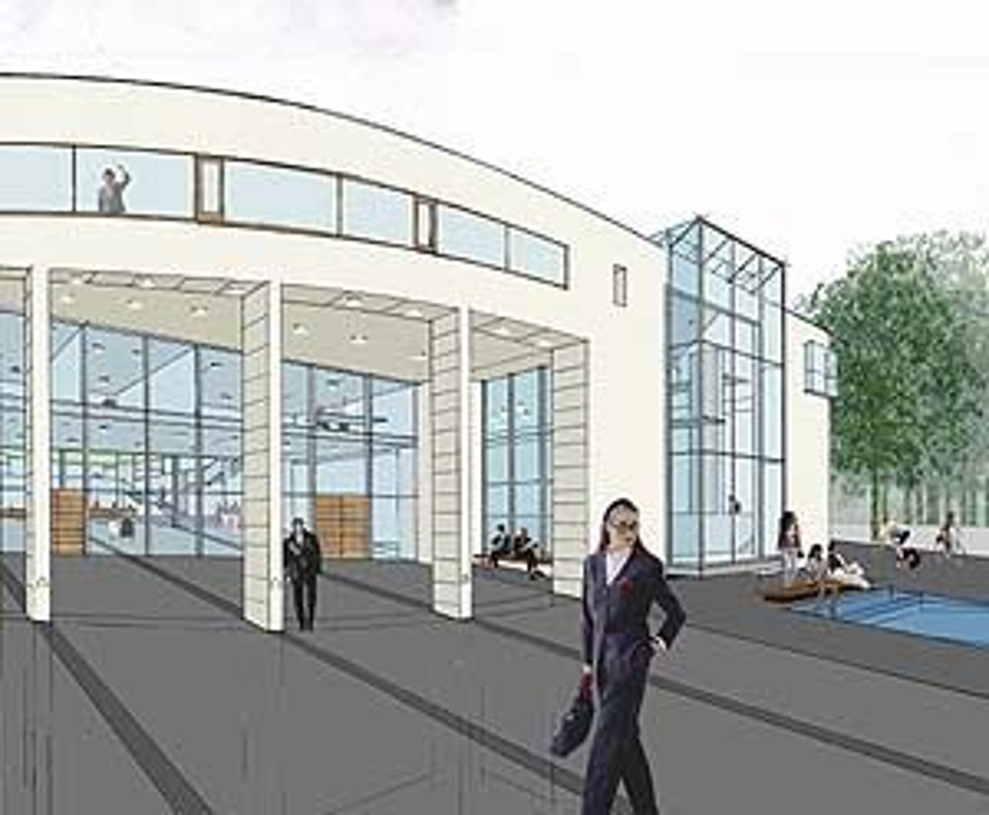 Grunnsteinen til det nye studentsenteret i Bergen ble lagt ned i slutten av mai. Her er hovedinngangen.
