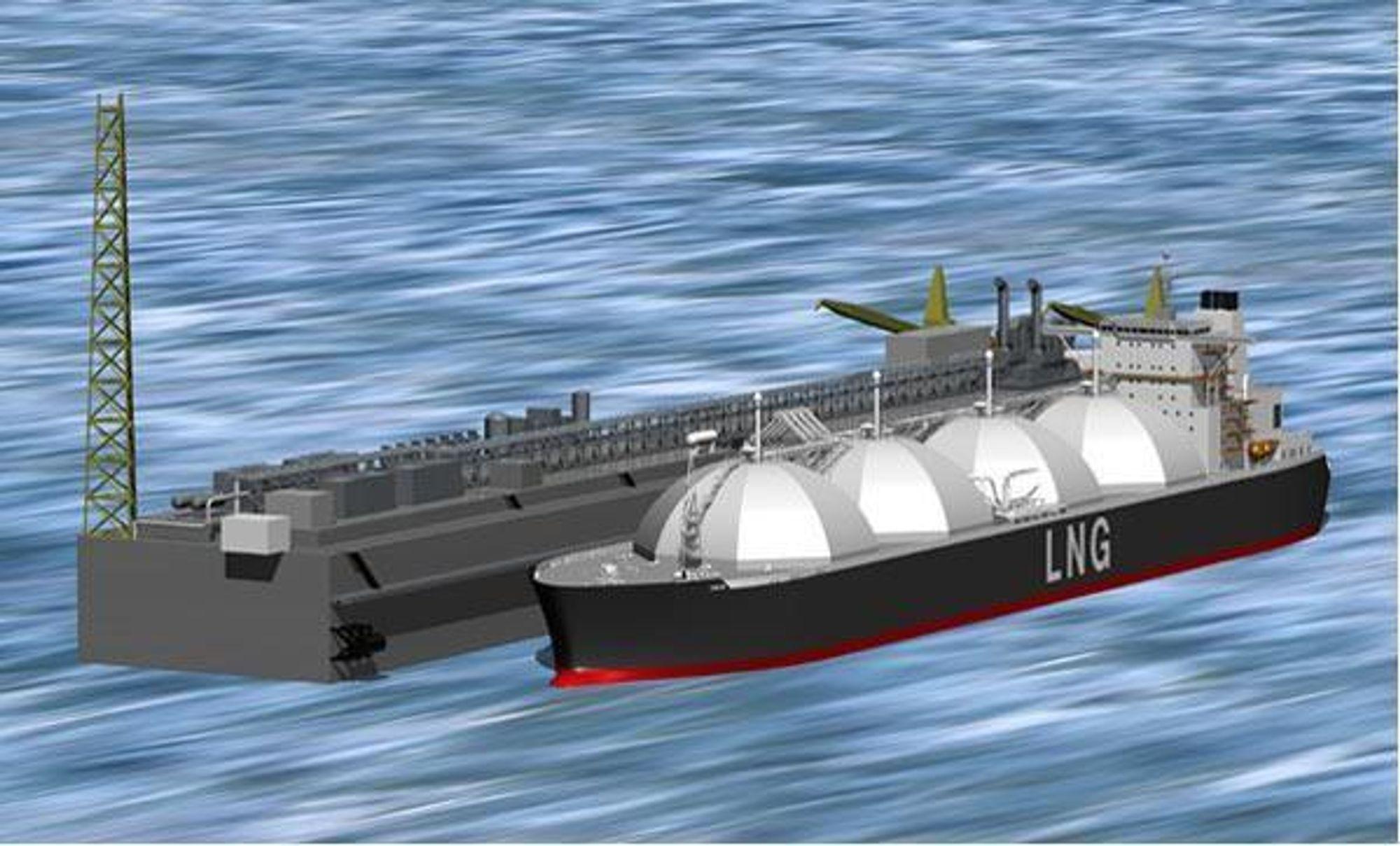 FLERE I SIKTE Aker Kværner prosjekterer LNG-terminaler både utenfor Italias kyst og i Mexico. ILL: CHEVRON TEXACO