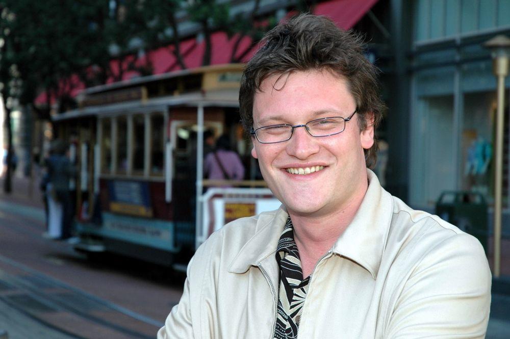 FULL FART: Birger Ljosland i Falanx på et kort stopp i San Francisco.