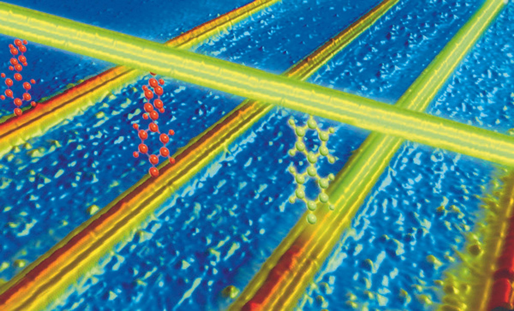 LINJENETT: Slik tenker HPs designere at fremtidens transistorerstatter vil se ut i enorm forstørrelse.