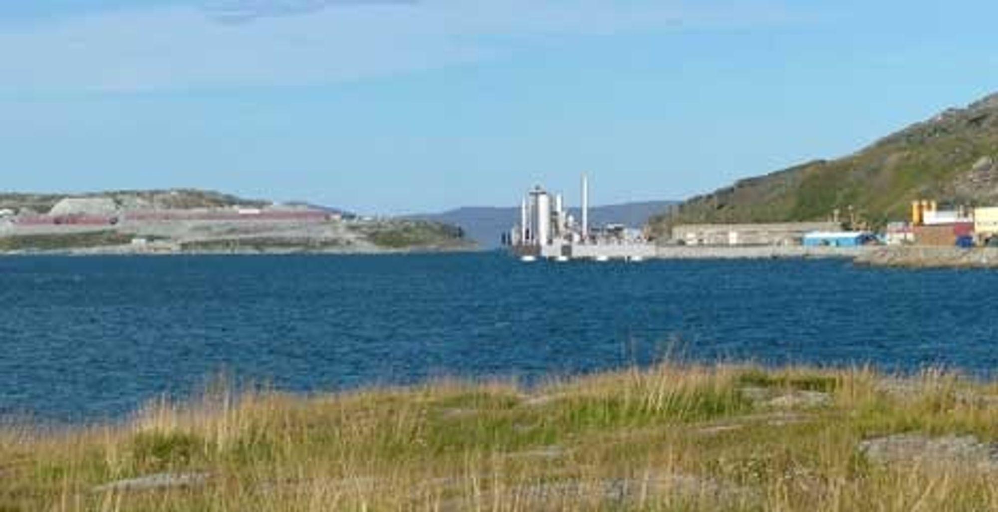 PÅ SJØEN: Gasskraftverket skal bygges på en liten plattform som plasseres i sjøen, rett nord for Hammerfest by. Det er kort avstand til Snøhvit på Melkøya, som skal forsyne kraftverket med gass og ta hånd om CO2.