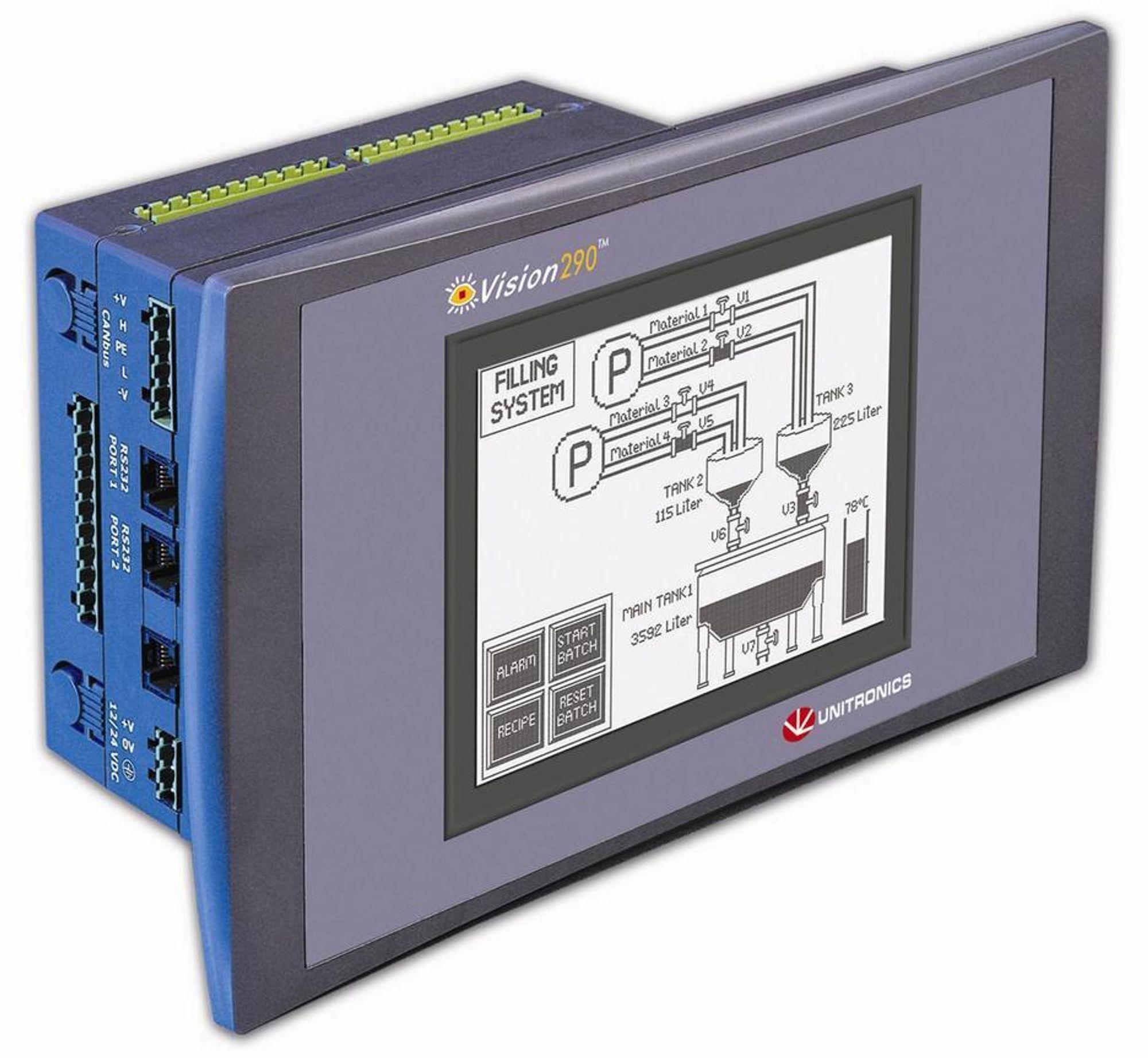 Vision 290 PLS fra Unitronics