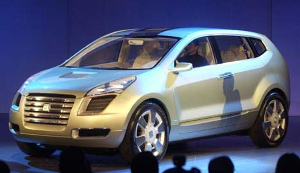 MYE NYTT: GM-konseptet Sequel inneholder ny, avansert teknologi som brenselceller, elektronisk styring av bremser og styring, og bruk av elektriske navmotorer. FOTO GM
