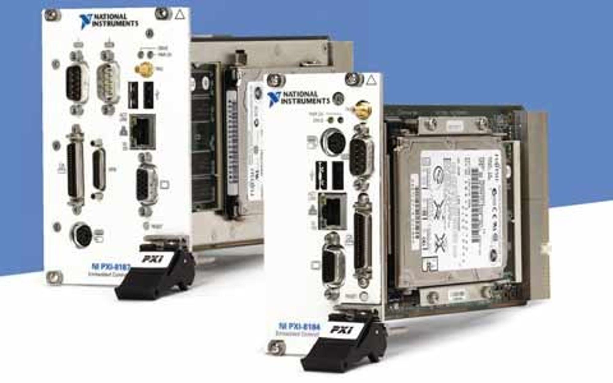 YTER MYE: Kontrolleren NI PXI-8187 RT er en høyytelses kontroller med en 2,5 GHz Pentium 4 prosessor og støtter inntil 1 GB.