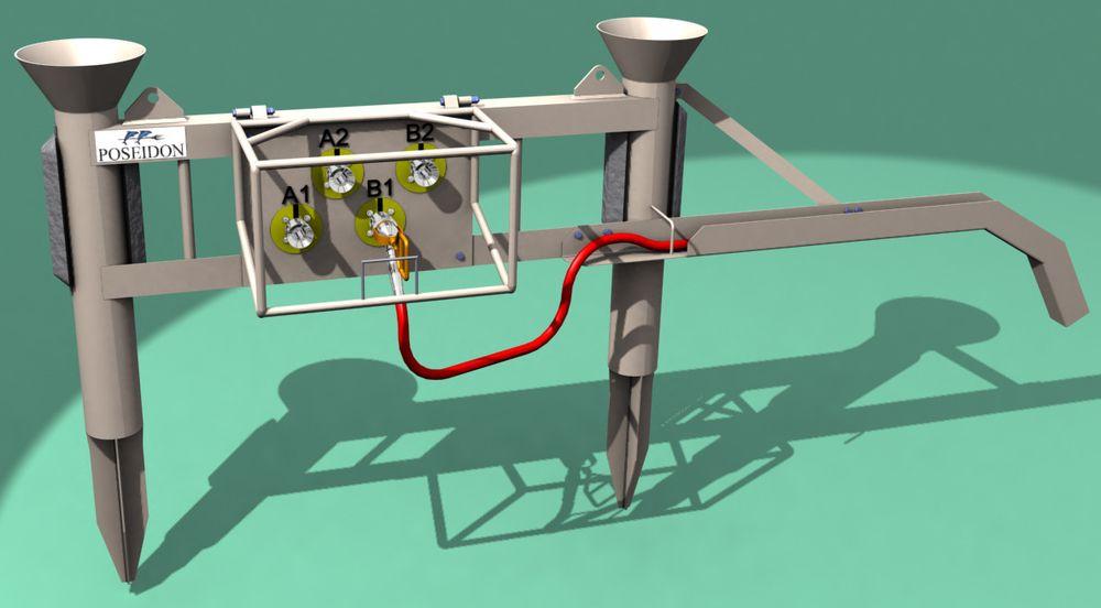 PANEL: Et elektrisk distribusjonspanel for Snorre er et eksempel på 3D konstruksjon gjort ved hjelp av Inventor og Studio 3D Max. ILL: POSEIDON GROUP