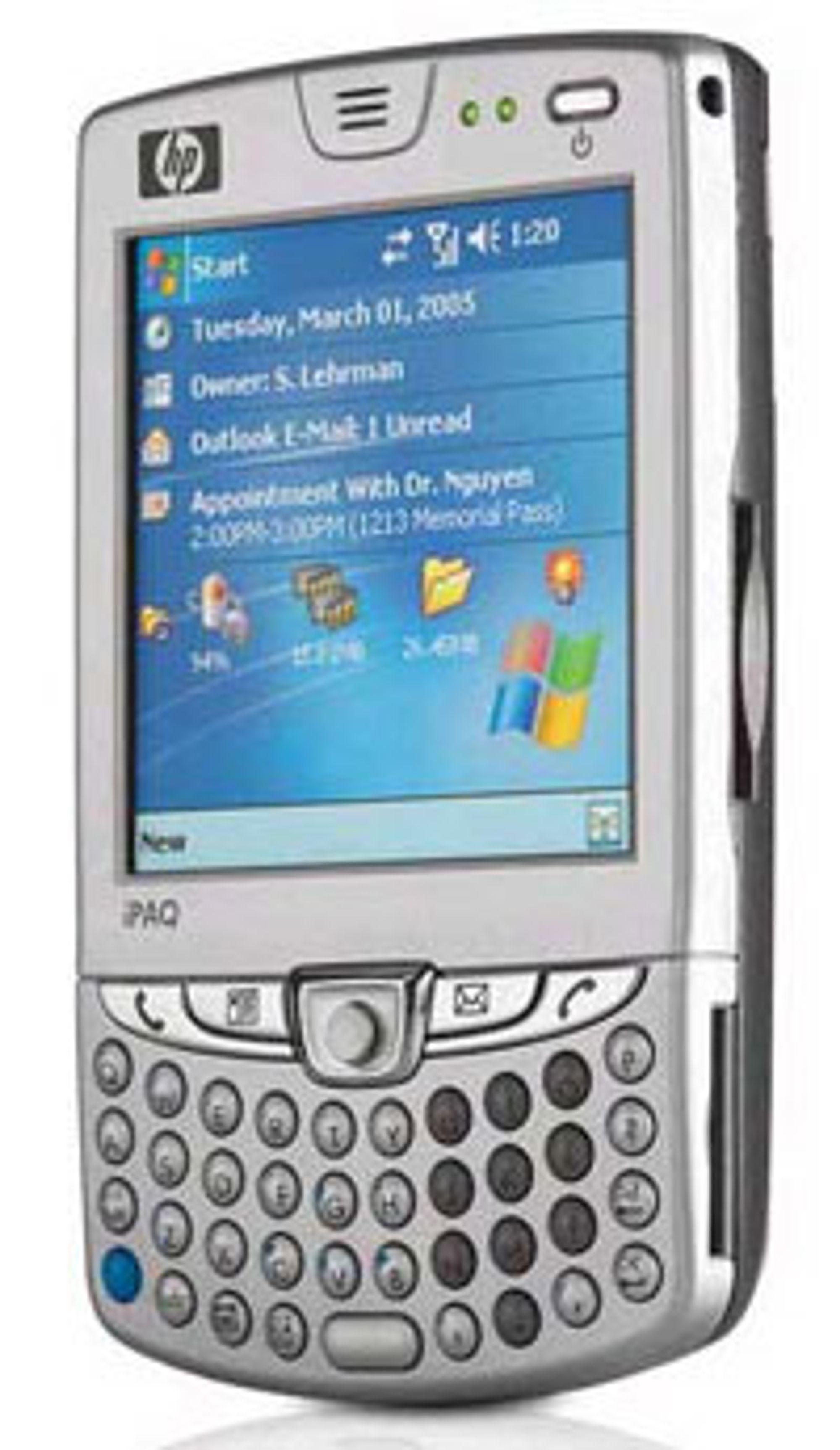 HP er nykommere på mobiltelefon, men skjønner seg på teknologi. Denne telefonen har til og med EDGE.