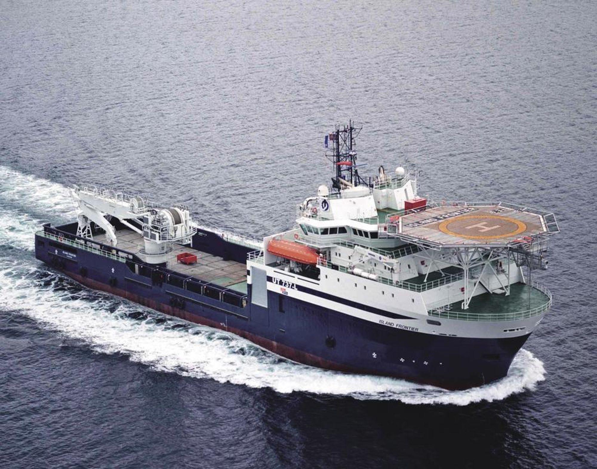 ISLAND FRONTIER: Aker Yards har bygget dette skipet for Island Offshore tidligere. Den er av typen UT737.