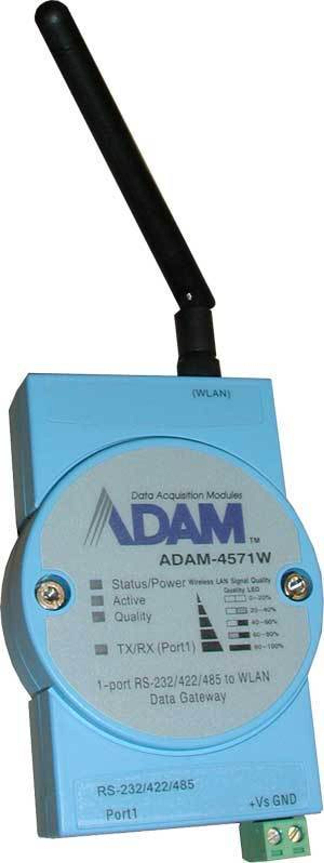 KGS systemer lanserer en ny com-portserver med WLAN tilkobling. ADAM-4571W